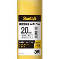 3M スコッチ(R)マスキングテープ 243J 幅20mm×長さ18m 243JDIY-20 1パック(6巻入) スリーエムジャパン