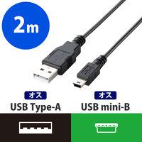 USB2.0ケーブル A-ミニB 2m