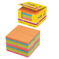 ポスト・イット 強粘着ノート業務用パック 6544SS-NE ネオンカラー5色 90枚×40冊 75×75mm
