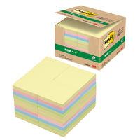 ポストイット 付箋 ふせん 通常粘着 ノート 75×75mm パステルカラー4色セット 1箱(40冊入) スリーエム 6544-K