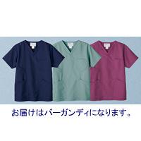 高浜ユニフォーム 医療白衣 ユニセックス スクラブ バーガンディ L TW-S215 1枚 (取寄品)