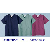 高浜ユニフォーム 医療白衣 ユニセックス スクラブ ミストグリーン LL TW-S215 1枚 (取寄品)