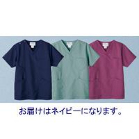 高浜ユニフォーム 医療白衣 ユニセックス スクラブ ネイビー LL TW-S215 1枚 (取寄品)
