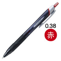 ジェットストリーム 油性ボールペン 0.38mm 赤インク 10本 黒軸 SXN-150-38 三菱鉛筆uni