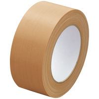 アスクル「現場のチカラ」 布テープ 0.26mm厚 幅50mm×長さ25m巻 茶 1セット(90巻:30巻入×3箱)