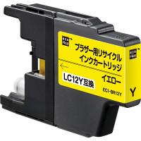 エコリカ リサイクルインク ECI-BR12Y イエロー(ブラザー LC12Y互換)