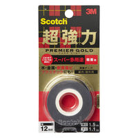 3M スコッチ(R) 超強力両面テープ プレミアゴールド スーパー多用途 粗面用 1.1mm厚 幅12mm×1.5m巻 KPR-12 スリーエム ジャパン