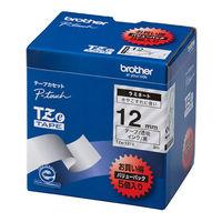 ブラザー ピータッチテープ ラミネート バリューパック 12mm 透明テープ(黒文字) 1パック(5個入) TZe-131V