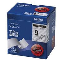 ブラザー ピータッチテープ ラミネート バリューパック 9mm 透明テープ(黒文字) 1パック(5個入) TZe-121V