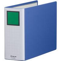 キングファイル スーパードッチ 脱着イージー A4ヨコ とじ厚80mm 青 キングジム 両開きパイプファイル 2488Aアオ