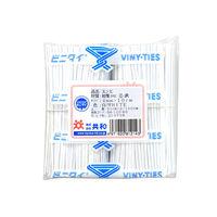 共和 ビニタイ(R)2層 100mm 白 QA-100-6 1袋(1000本入)