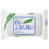 ミヨシ石鹸 洗濯石鹸 白いふきん洗い 無香料 1個