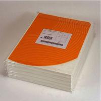 東洋印刷 カラーレーザープリンタ用マットラベル 4面 MCL-1 1袋(100シート入)