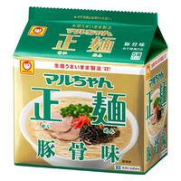 マルちゃん正麺 豚骨味 5食パック 袋91g×5
