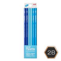 三菱鉛筆(uni) ユニパレット 鉛筆 2B 六角・パステルブルー軸 K55602B 1ダース(12本入)