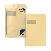 アスクル オリジナル窓付きクラフト封筒 透けないタイプ 角20 500枚(100枚×5袋)