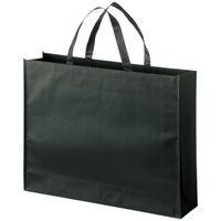 不織布バッグ PPコーティング 平紐 黒 大 1セット(30枚:10枚入×3袋) 今村紙工