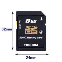 TOSHIBA/東芝 SDHC 8GB Class4 ( SD-L008G4 )