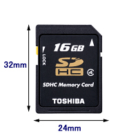 TOSHIBA/東芝 SDHC 16GB Class4 ( SD-L016G4 )