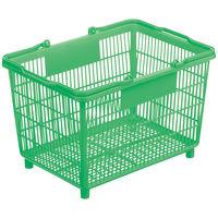 買い物カゴ 25.4Lグリーン 1セット(5個:1個×5)
