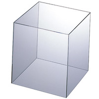 アクリル製 キューブ型ディスプレイ 20cm角 1セット(5個:1個×5) アスクル