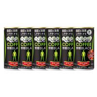 缶コーヒー 特定保健用食品(トクホ) ヘルシアコーヒー 無糖BLACK(ブラック) 185g 1セット(6缶) 花王
