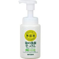 ミヨシ石鹸 無添加 素材こだわり 泡の洗顔せっけん