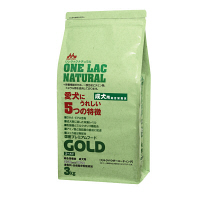 ONE LAC(ワンラック) ドッグフード ナチュラルNEWゴールド 3kg 1個 森乳サンワールド