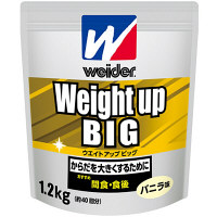 ウイダー ウエイトアップビッグ バニラ味 1.2kg 森永製菓  プロテイン