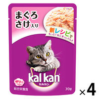 kalkan(カルカン) キャットフード パウチ まぐろとさけ 70g 1セット(4袋) マースジャパン