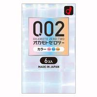 0.02EX コンドームズ カラー 箱6個