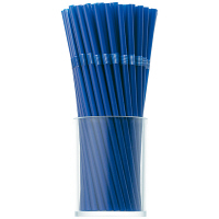 曲がるストロー(裸) ブルー 1袋(200本入)