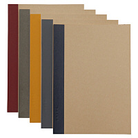 無印良品 植林木ペーパー裏うつりしにくいノート5冊組 A5・30枚・6mm横罫・背クロス5色 良品計画