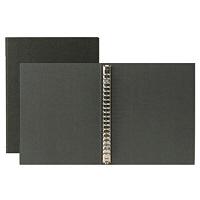 再生紙バインダーA5・20穴ダークグレー