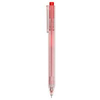 無印良品 選べるリフィルペンポリカーボネイト六角軸 ゲルボールペン 赤・0.38mm・ニードルタイプ