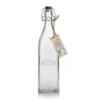 KILNER キルナー スクエアクリップ ボトル1L 1本 ガラス 保存容器