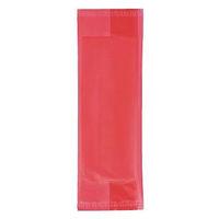 カラーパッケージおしぼり 平判 レッド 1袋(100枚入)