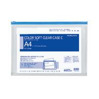 コクヨ カラーソフトクリヤーケースC(チャック付き)S型・マチ付き A4-S 青