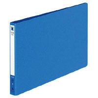 コクヨ レバーファイルZ式 色厚板紙 A5横 12mm 120枚収容 青