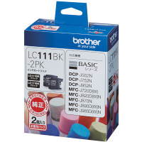 ブラザー インクジェットカートリッジ LC111BK-2PK ブラック 1パック(2個入) LC111シリーズ