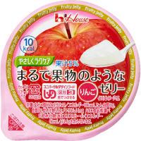 ハウス食品 やさしくラクケアまるで果物のようなゼリー りんご/ 84737