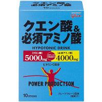 パワープロダクション クエン酸&必須アミノ酸 1箱(12.4g×10袋) 江崎グリコ アミノ酸 サプリメント