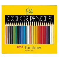 トンボ鉛筆 色鉛筆 紙箱24色NA 丸軸 CQ-NA24C 1パック(24色入)