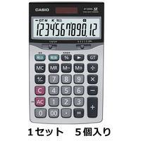 カシオ計算機 エコ&グリーン中型卓上電卓 JF-120VG-N 1セット(5個入)