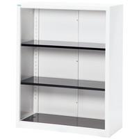 Ceha A4スチール書庫 3段 下置き用 オープン ホワイト 幅880×奥行400×高さ1120mm 1台