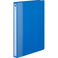 アスクル リングファイル丸型2穴 A4タテ 背幅27mm ブルー 10冊
