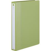 アスクル リングファイル丸型2穴 A4タテ 背幅36mm グリーン 10冊