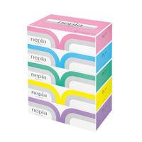 ティッシュペーパー 高品質 180組(5箱入) ネピアプレミアムソフト 王子ネピア