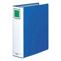 コクヨ チューブファイル(エコ) A4タテ とじ厚80mm 2穴 ブルー フ-E680B 1箱(20冊:10冊入×2箱)