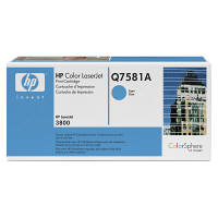 HP レーザートナーカートリッジ Q7581A シアン (直送品)